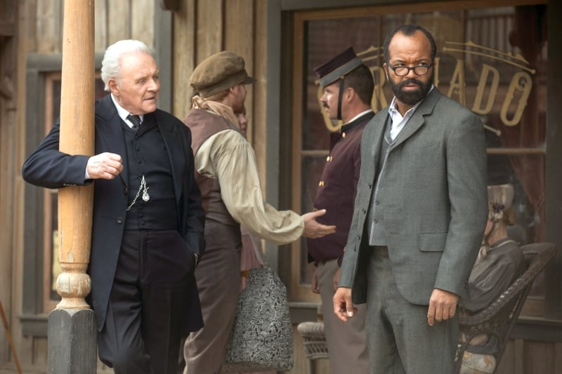 Anthony Hopkins and Jeffrey Wright.